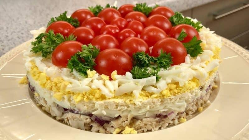 Салат Помидорная полянка. Оригинальный салат для любого торжества 4