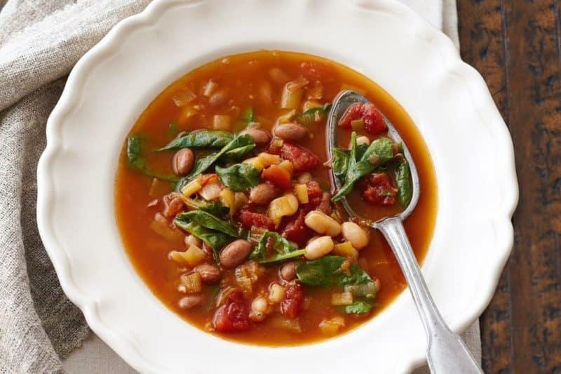 Суп из томатов и белой фасоли. Ароматное первое блюдо за 30 минут 4
