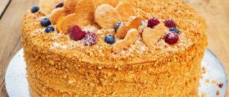 Торт Рыжик. Этот десерт можно назвать самым популярным домашним лакомством 7