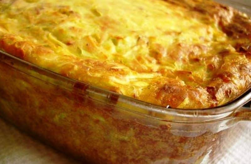 Запеканка с кабачками и сыром. Готовлю почти каждый день и всё равно просят добавки