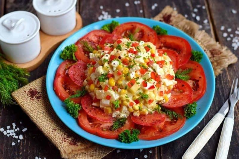 Изысканный салат Африканская роза. Красивый, вкусный и свежий салатик для любого торжества 1