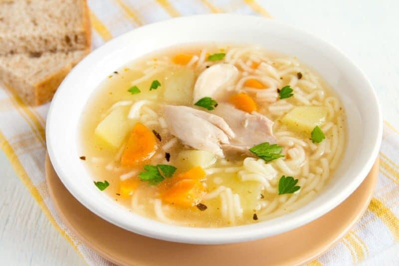 Куриный суп Рыжик