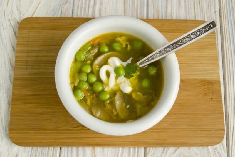 Ленивый суп с горошком. Сытный и ароматный супчик, который займёт у вас минимум времени 4
