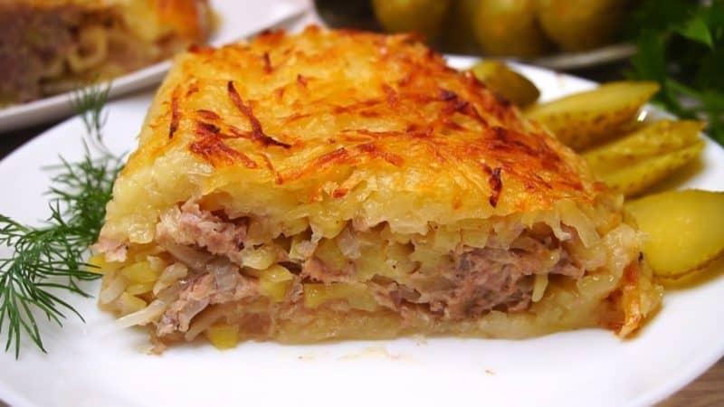 Мясная запеканка с картофельной начинкой. Блюдо, которое особенно понравится мужчинам 6