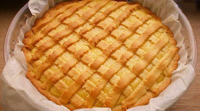 Песочный лимонный пирог. Яркий, солнечный пирог, который порадует вас своим вкусом 6
