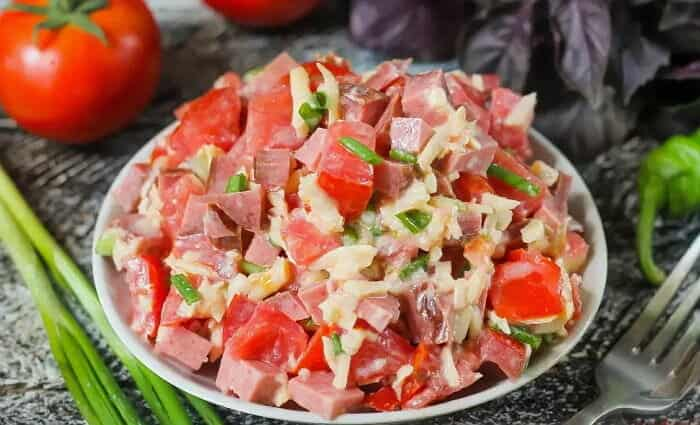Пикантный салат Мексика. Варить ничего не надо 1