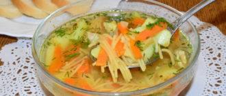 Суп с жареной вермишелью. Отменное первое блюдо, которое никогда не надоест 6