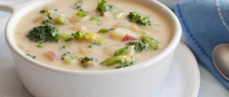 Сырный суп с шампиньонами и брокколи. Особый сливочный вкус первого блюда придётся вам по душе 7