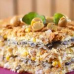 Торт Наполеон с курицей и грибами. Замечательная закуска на праздничный стол 13