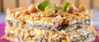 Торт Наполеон с курицей и грибами. Замечательная закуска на праздничный стол 7