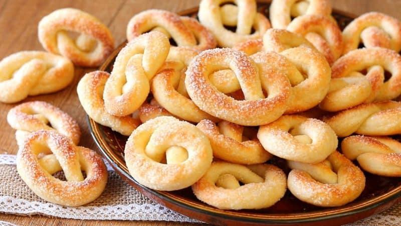 Хрустящее печень Сахарные колечки. Нежное лакомство к чаю 1