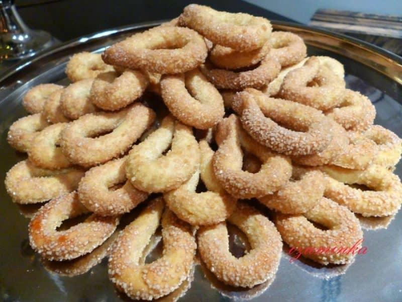 Хрустящее печень Сахарные колечки. Нежное лакомство к чаю