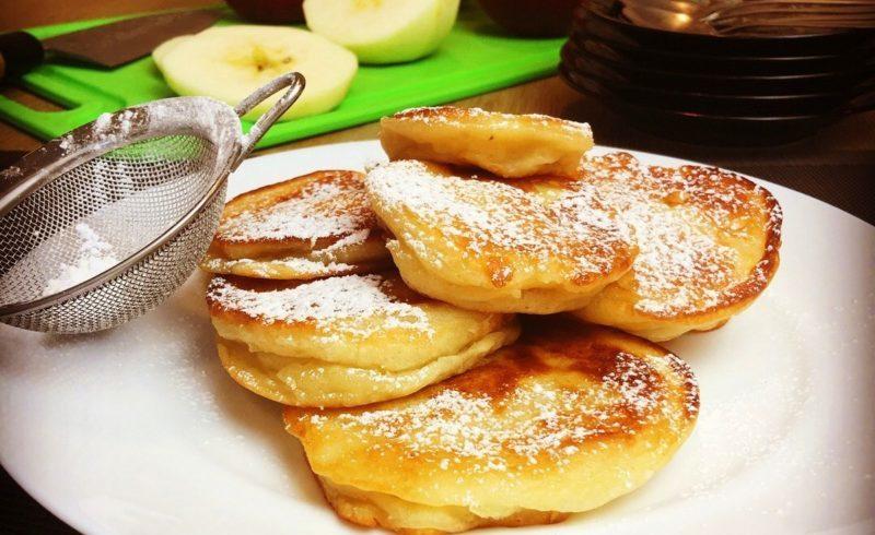Яблочные оладьи. Вкусная сладкая выпечка для сытного завтрака 1