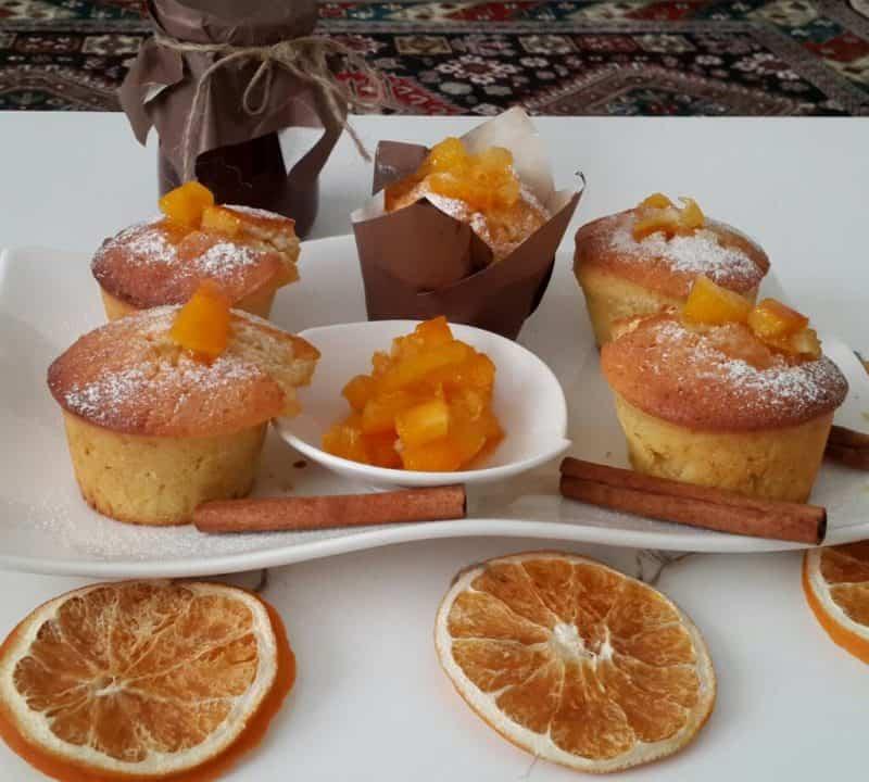Апельсиновый кекс с ягодами