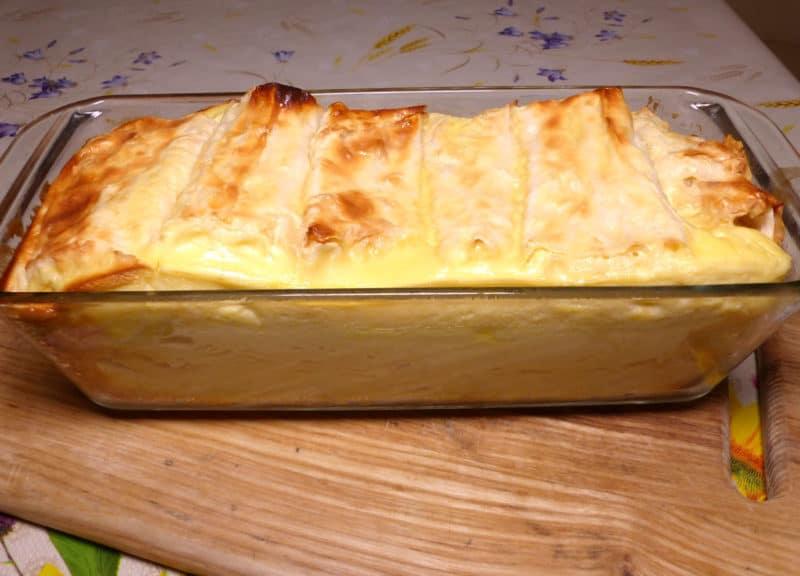 Болгарская баница с творогом и сыром