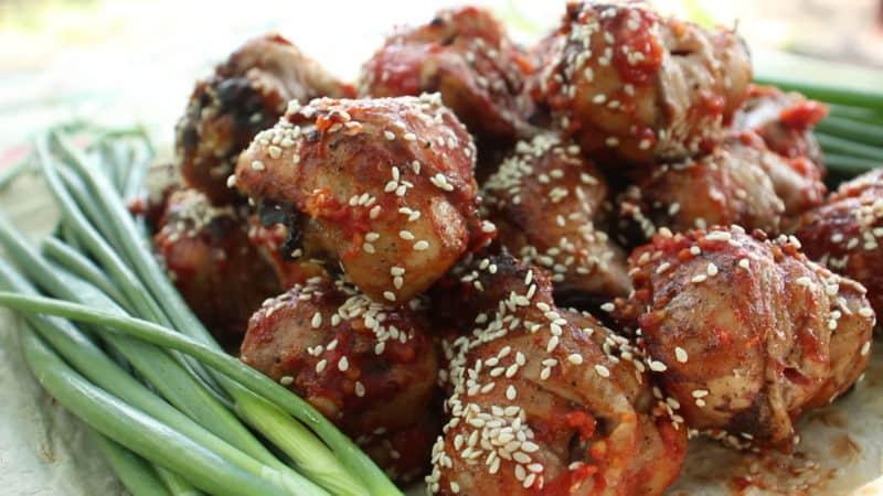 Курица с рисом под соусом терияки. Можно подавать на праздничный и повседневный ужин 1