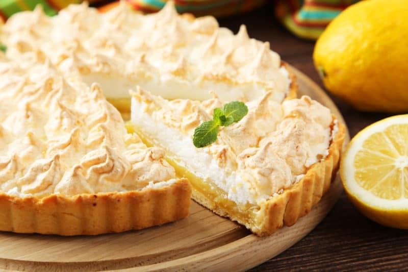 Лимонный пирог-безе. Простой, красивый и нежный десерт к чаю 1