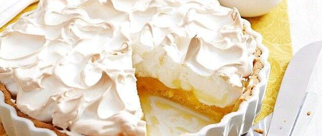 Лимонный пирог-безе. Простой, красивый и нежный десерт к чаю
