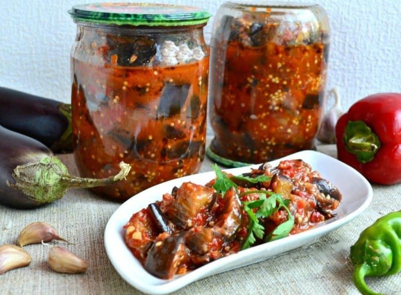 Острый салат на зиму Манжо. Можно подавать как закуску к рыбным и мясным блюдам