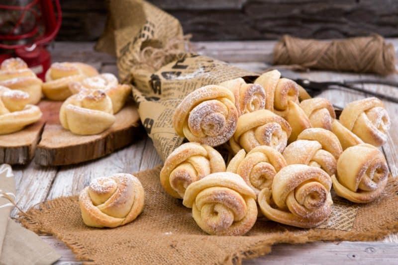 Печенье Роза из творожного теста. Готовится очень легко 1