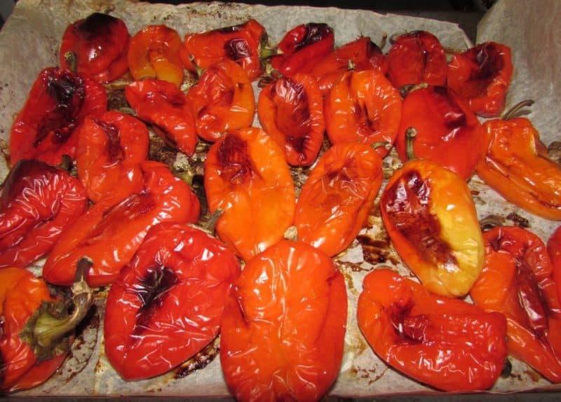 Печёный перец в духовке на зиму. Очень вкусная заготовка