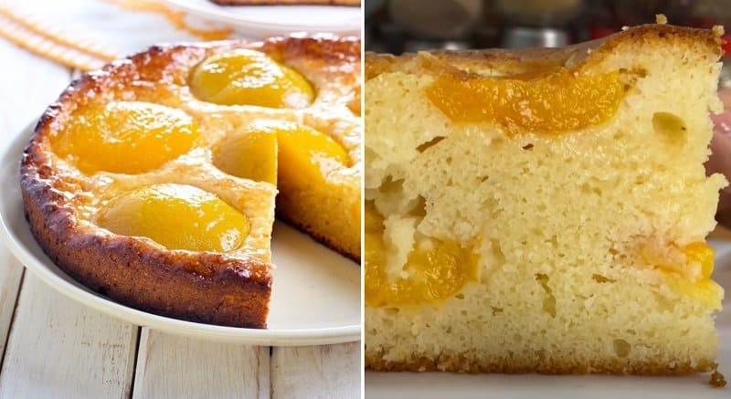Пирог с абрикосами на кефире. Пеку его на даче по рецепту цыганки Галины 1