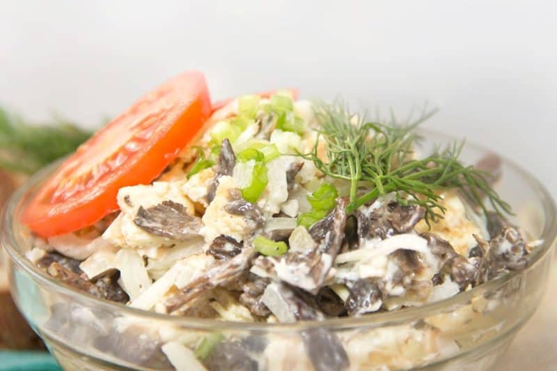 Салат Сеньора. Оригинальный салатик с печенью и грибами