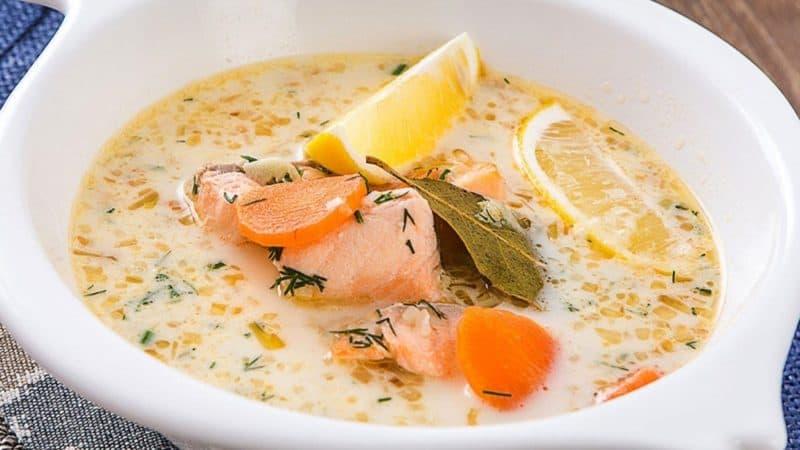 Суп из форели по-фински. Наваристое первое блюдо для любителей рыбки 1
