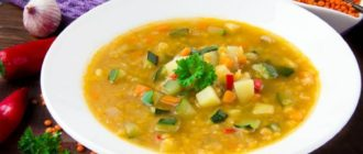 Суп на мясном бульоне с чечевицей. Легкое и вкусное первое блюдо из бобовых 14