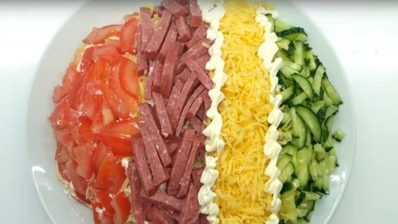 Салат Елисейские поля. Красивый салат, который удивит вас насыщенным вкусом 1