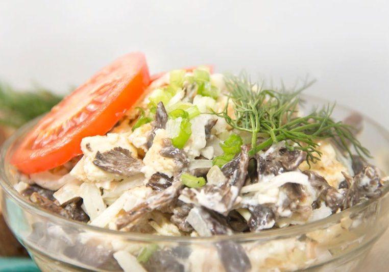 Салат Сеньора. Оригинальный салатик с печенью и грибами 1