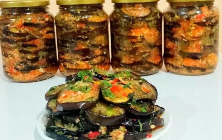 Маринованные баклажаны с чесноком и орехами. Вкуснятина на зиму 1