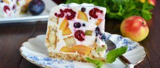 Сметанный торт Лето. Лакомство получается сочным, влажным и вкусным 15