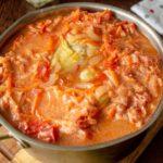 Суп-голубец. Оригинальное и сытное первое блюдо с мясом и капустой 13