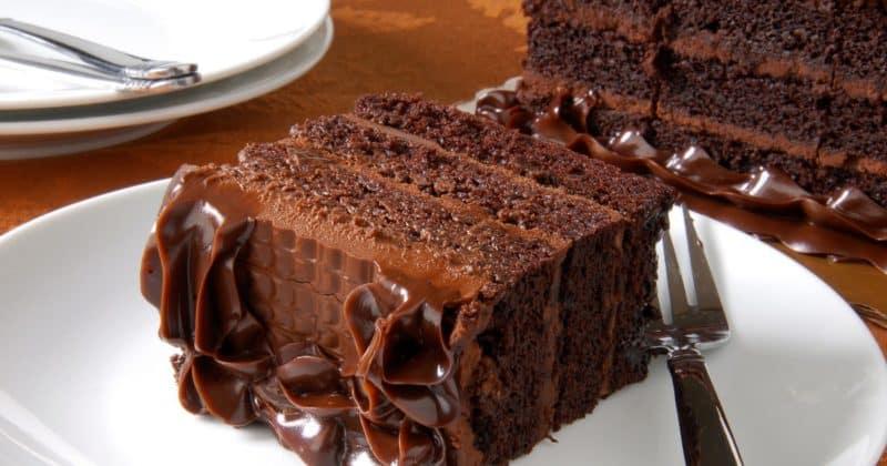 Торт Чёрная магия на кефире с кофе