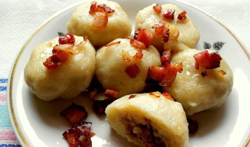 Белорусские пызы. Вкусные картофельные клецки с фаршем 1