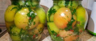 Зелёные помидоры по-кавказски. Эта заготовка понравится всем 5