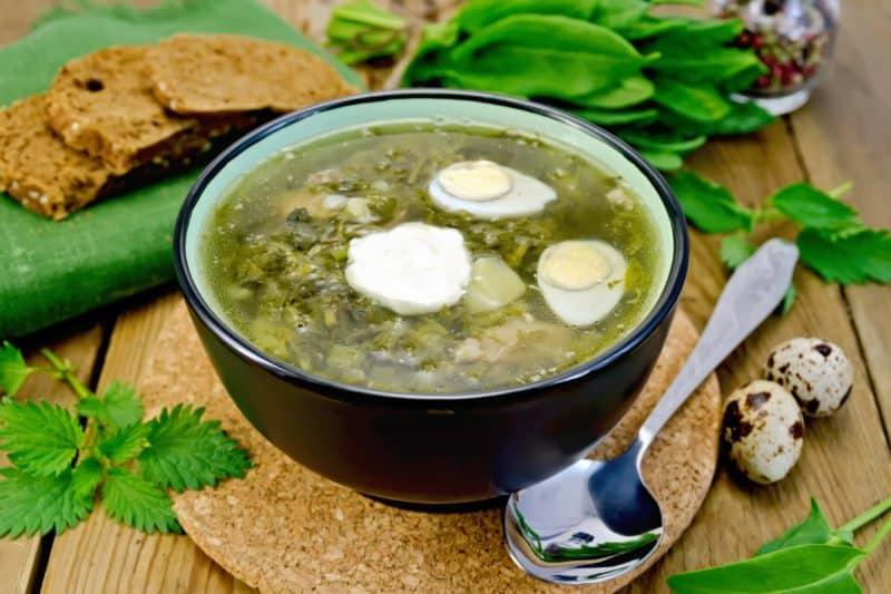Зелёный борщ с щавелем и крапивой. Настоящая кладовая витаминов 1