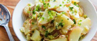 Картофельный салат. Вкусное блюдо из доступных продуктов 3