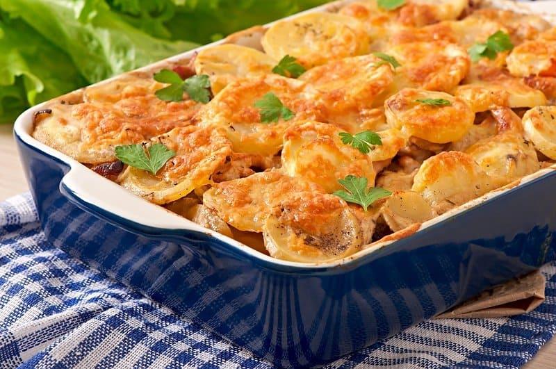 Куртилья с курицей. Картофельная запеканка с нежным мясом и ароматным сыром 1