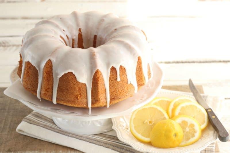 Лимонный кекс к чаю
