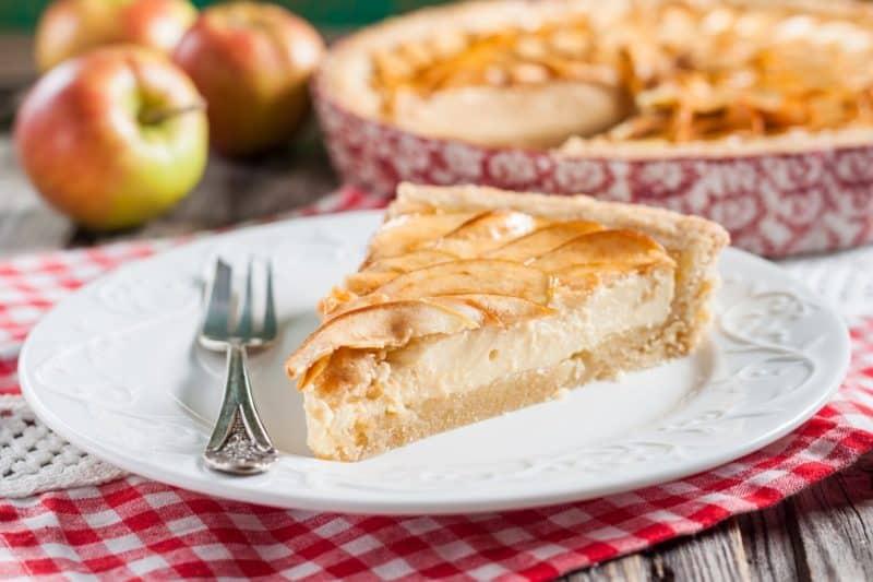 Песочный пирог с яблоками и заварным кремом. Оригинальная сладкая выпечка к чаю 1