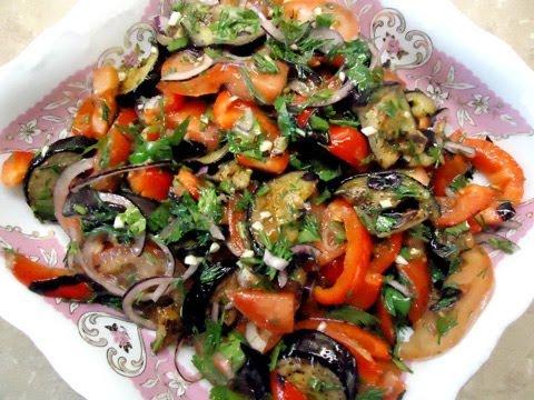 Салат из баклажанов с секретом. Ароматный овощной салат с любимым овощем 14