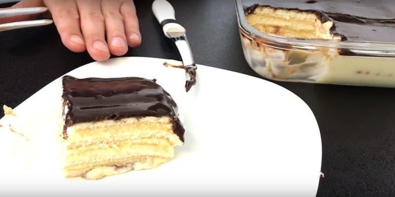 Торт без выпечки Нежность