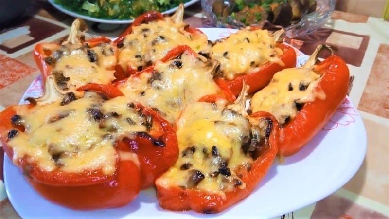Фаршированные перцы со сливочной начинкой