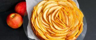 Яблочный пирог без сахара муки и масла. Можно кушать на ночь, не поправитесь 4