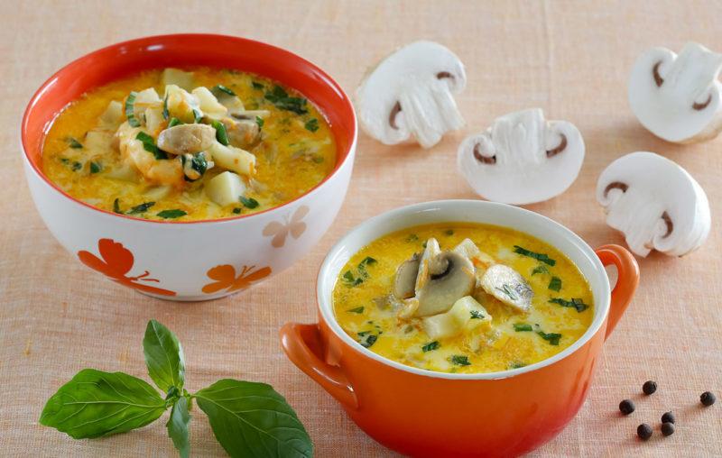 Сырно-грибной суп с курочкой. Ароматное и очень вкусное блюдо 1