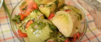 Маринованные зелёные помидоры. Отличная заготовка по маминому рецепту 7