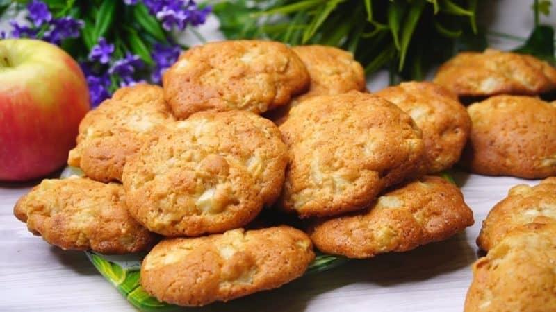 Воздушное яблочное печенье на скорую руку, даже тесто не нужно раскатывать