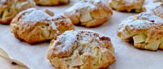 Воздушное яблочное печенье на скорую руку, даже тесто не нужно раскатывать 5